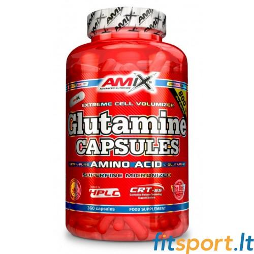 Amix L-Glutamine 120 kapsulių
