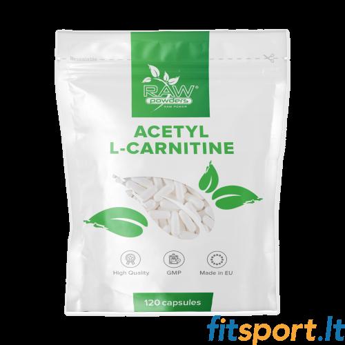 Raw Powders Acetyl L-Carnitine 120 kapsulių