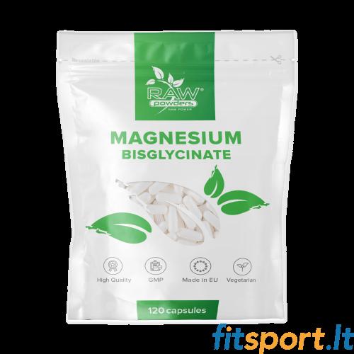 Raw Powders Magnio bisglicinatas 500mg  120kaps.
