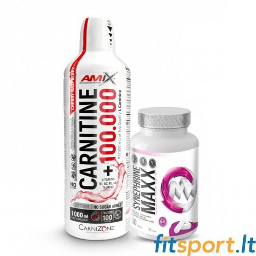 Amix™ Carnitine 100.000 1000ml + MaxxWin Synephrine 60 kaps.