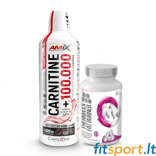 Amix™ Carnitine 100.000 1000ml + MaxxWin Thermaxx Fat Burner 90 kaps.