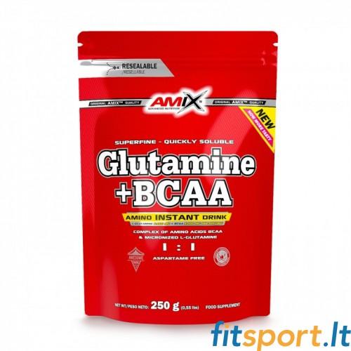 Amix Glutamine + BCAA powder 250g DOYPACK