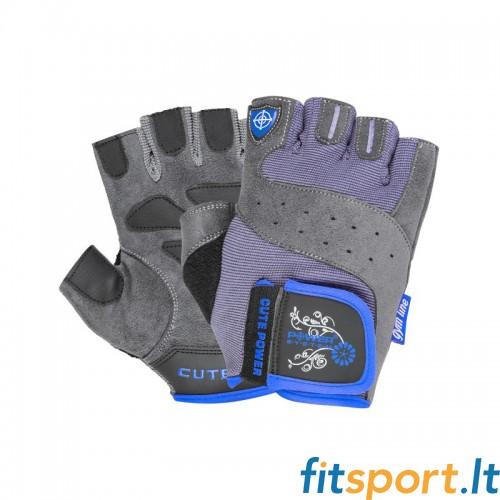 Power System Gym gloves Cute Power (mėlynos)