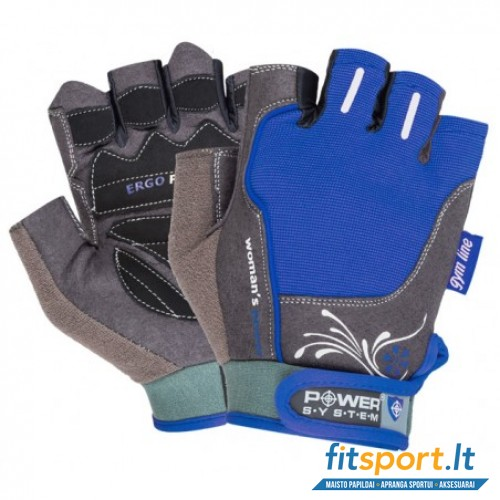 Power System Gym gloves Woman's Power (mėlynos)