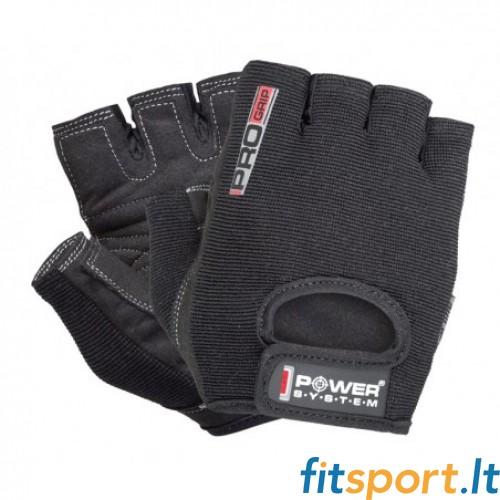Power System Pro Grip unisex pirštinės (juodos)