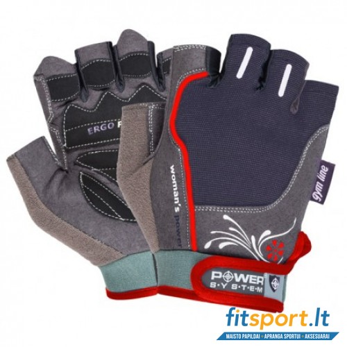 Power System Gym gloves Woman's Power (raudonos)