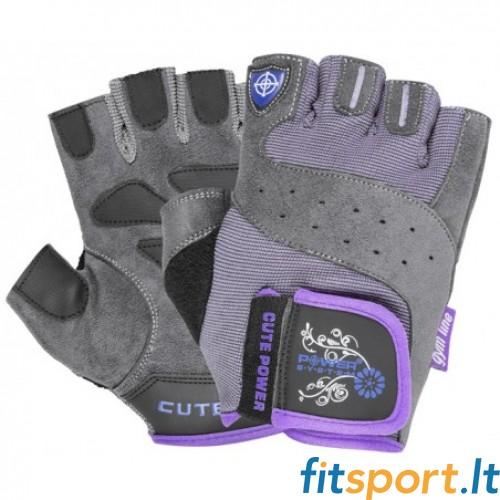 Power System Gym gloves Cute Power (violetinės)