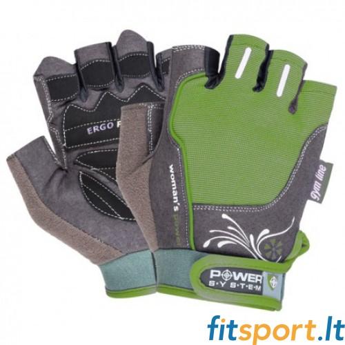 Power System Gym gloves Woman's Power (žalios)