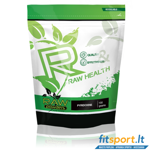 Raw Powders Pyridoxine (vitaminas B6) 100g