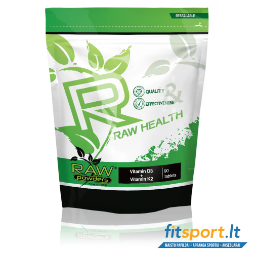 Raw Powders Vitamin D3 + Vitamin K2 90 tbl.
