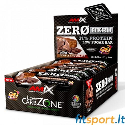 Amix Zero Hero 31% batonelių pakuotė  65 g x 15