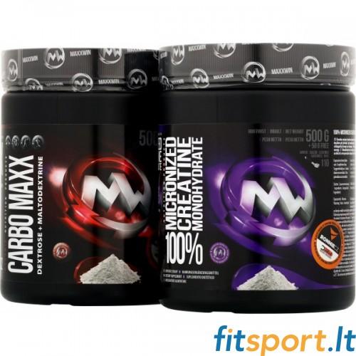 MaxxWin Micronized Creatine monohydrate 550g + CARBO MAXX 500 g