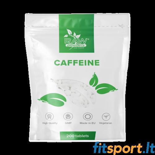 Raw Powders Kofeinas 200 mg (caffeine) 200tabl.