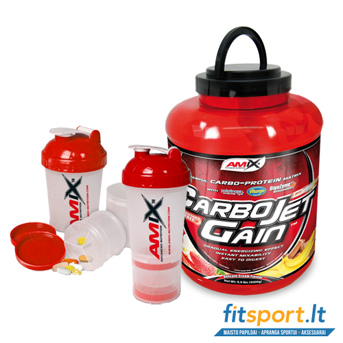 Amix CarboJET Gain 4000 g + Monster shaker nemokamai!