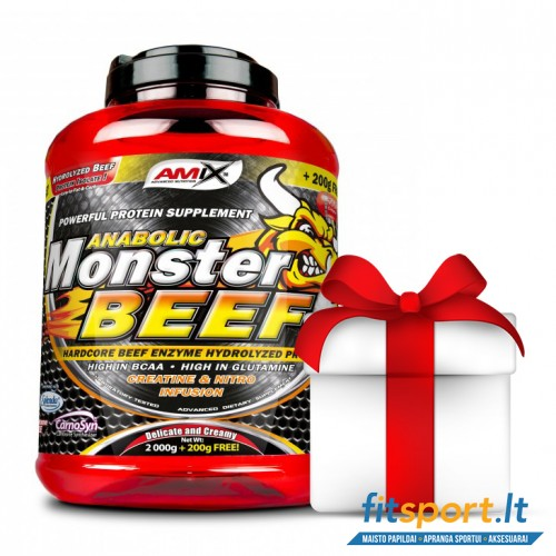 Amix Monster Beef 90% Protein 2200 g + dovanos