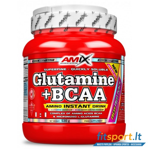 Amix Glutamine + BCAA powder 530g