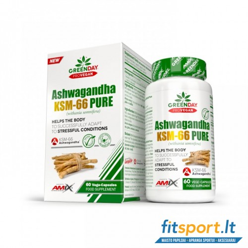 Amix GreenDay® Ashwagandha KSM-66 Pure 60 kaps