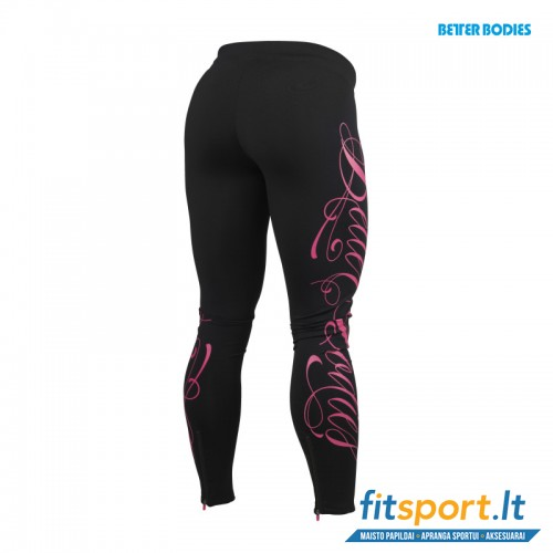 Better Bodies Womens logo tights /black pink