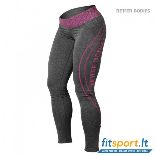 Better Bodies Shaped logo tights/ anthracite mel pink