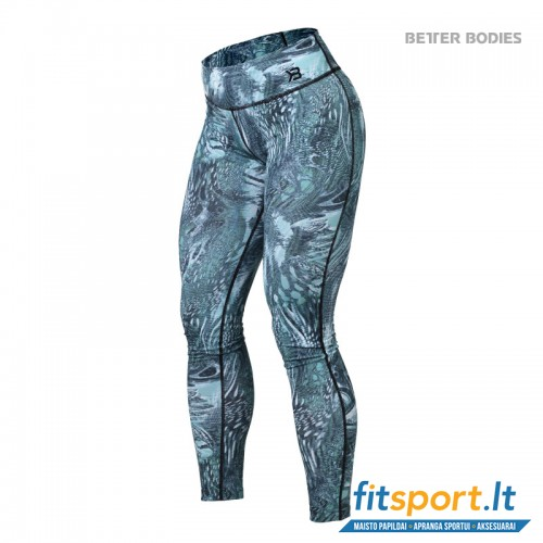 Better Bodies Printed tights/turquise