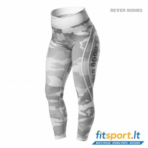 Better Bodies Camo high tights/White camo
