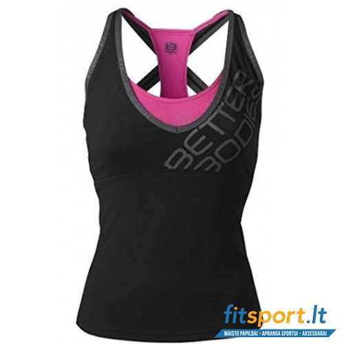 Better Bodies Support 2-layer top/black/pink