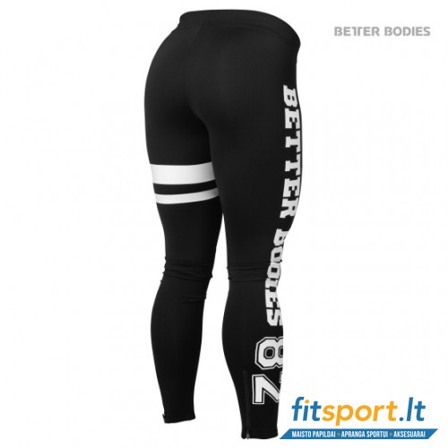 Better Bodies Varsity tights/black white