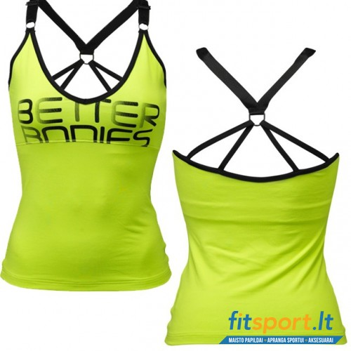 Better Bodies athlete tank/lime