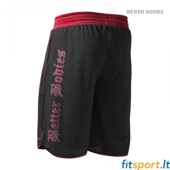luistella kengät Aika siistiä melko mukava Better Bodies Mesh gym shorts/black-red