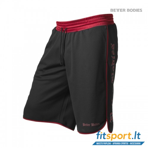 Better Bodies Mesh gym shorts/black-red