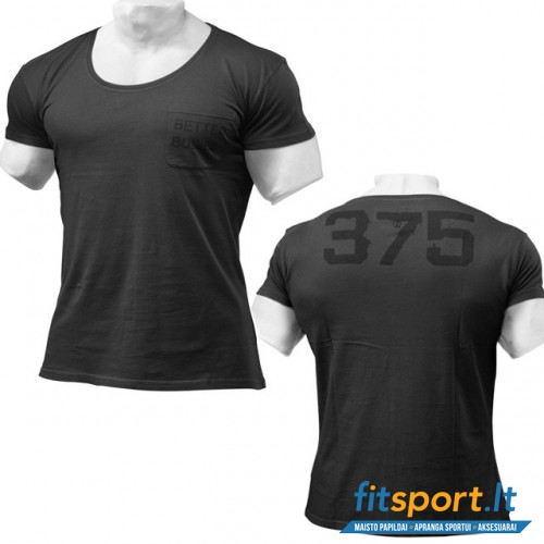 Better Bodies BB washed tee / wash black