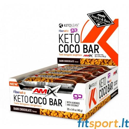 Amix KetoLean® Keto Coco Bar 20 x 40g