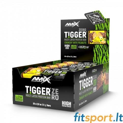 Amix TIGGER® Zero bar baltyminis batonėlis  20 x 60 g.