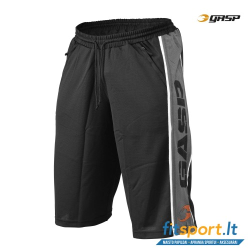 GASP Logo mesh shorts/black