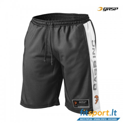GASP No1 Mesh shorts/black-white