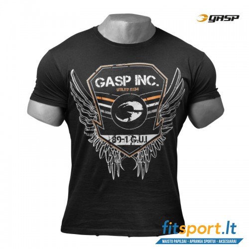 GASP Rough print tee/wash black