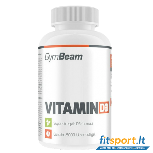 GymBeam Vitamin D3 5000 IU 60 softgels