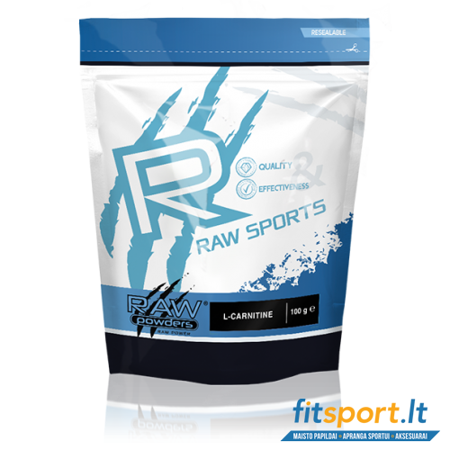 Raw Powders L-Carnitine 100 g - 100 porcijų