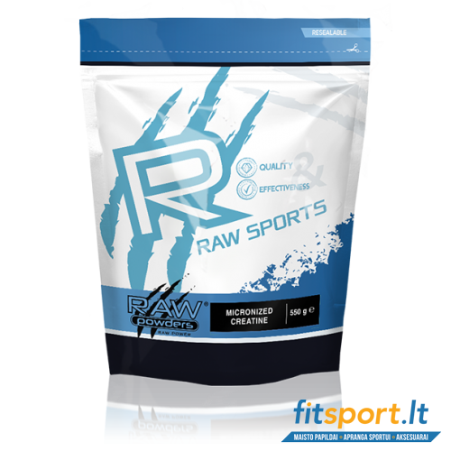 Raw Powders Micronized Creatine 550 g - 110 porcijų