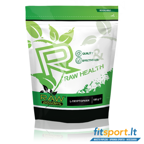Raw Powders L-Tryptophan 100 g - 200 porcijų