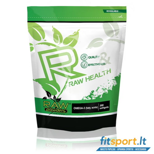 Raw Powders Omega 3 200 kaps - 200 porcijų