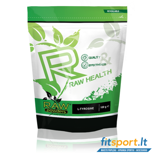 Raw Powders L-Tyrosine 100 g - 100 porcijų