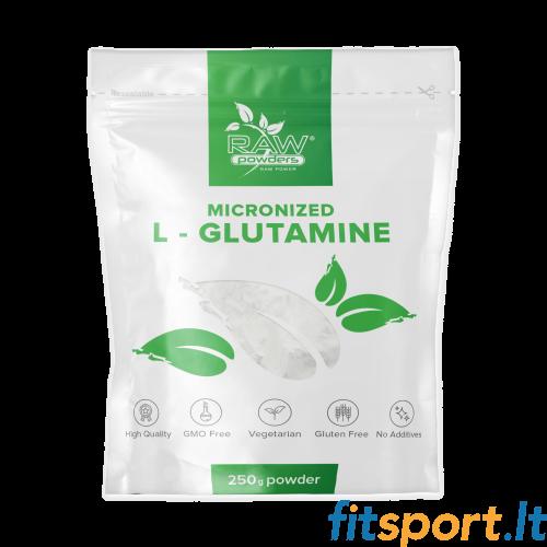 Raw Powders Micronized L-Glutamine 250 g - 50 porcijų
