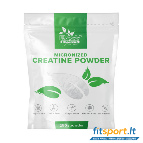 Raw Powders Micronized Creatine 250 g - 50 porcijų