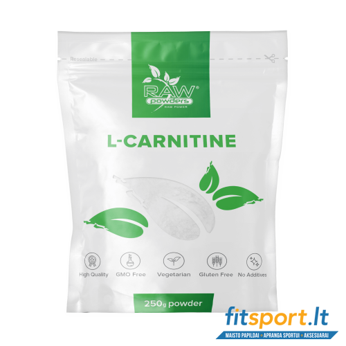 Raw Powders L-Carnitine 250 g - 250 porcijų