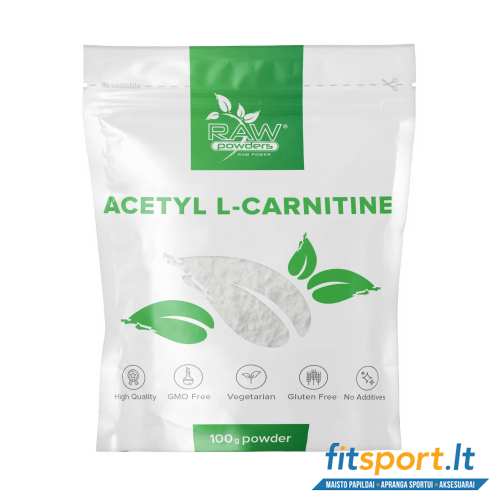 Raw Powders Acetyl L-Carnitine 100 g - 200 porcijų