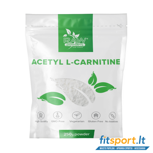 Raw Powders Acetyl L-Carnitine 250 g - 500 porcijų