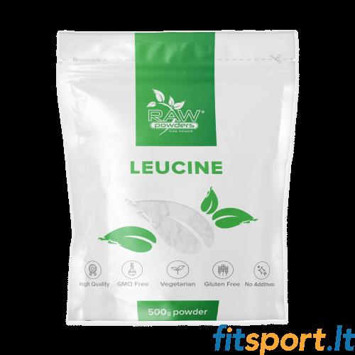 Raw Powders Leucine 500 g - 100 porcijų