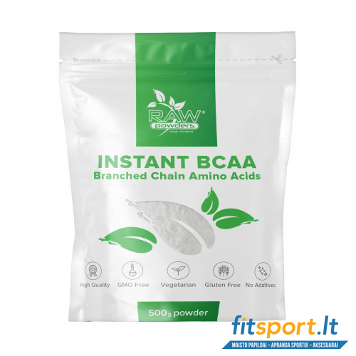 Raw Powders Instant BCAA 500 g - 100 porcijų