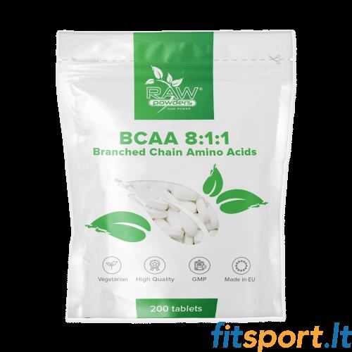 Raw Powders BCAA 8:1:1 200 tab. - 66 porcijos
